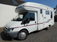 2003 Auto Sleeper Ravenna 4 Berth, 3 Belts, L-Shaped Rear Lounge with Overcab