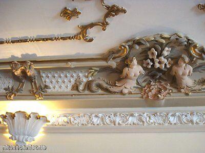 Stucco - Stuckgesimse-  Meerjungfrauen Mittelelement zu Neo-Barock Stuck Gesims