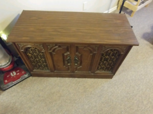 Old track and record player with built in speakers and works