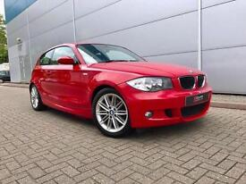 2007 07 BMW 120i M Sport Red 3 door hatchback + Black Part Leather +