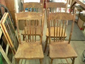 4 belle chaise antique pressback # 3585