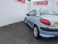 2003 52 PEUGEOT 206 CC 2.0 16V SE HARDTOP CONVERTIBLE.NICE LOW MILEAGE EXAMPLE .