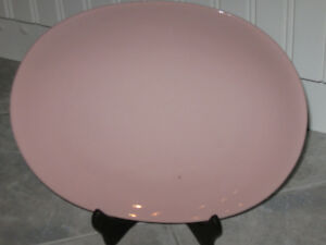 Beautiful Old Johnson Bros.Platter in PINK [with a Tiny Flaw]