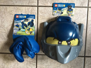 NEW LEGO Nexo Knights Costume Mask and LEGO Hands $15
