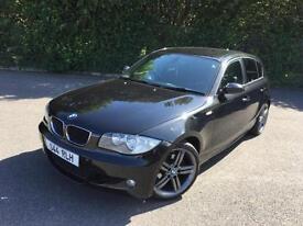 BMW 118 2.0 TD M SPORT DIESEL MANUAL BLACK 5 DOOR HATCHBACK 2009