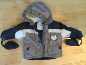 Winter Jacket & Snowpant set with mitts - size 18 months