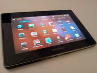 BLACKBERRY PLAYBOOK WITH 16 GB MEMORY, CHARGER AND CASE