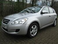 08/08 KIA CEE'D 1.6 SR 5DR HATCH IN MET SILVER WITH 86,000 MILES