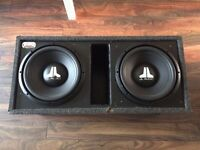 """2 12"""" JL Audio subs 500W each Bassworks ported box"""