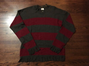 FREDDY KRUEGER RUBIES SWEATER NIGHTMARE ON ELM STREET HALLOWEEN