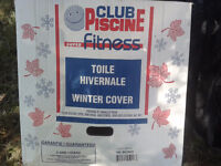 Toile hivernale pour piscine 18' / 18 ft pool winter cover