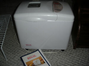 Regal Bread Maker with Book; smoke free home