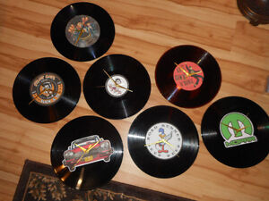 horloges vinyle 33 tours Elvis, Stray cats, Mopar, Betty Boop