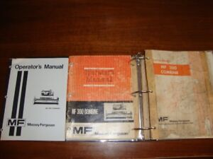 MF 300 Combine Operator's Manuals and Parts Book