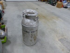 antique milk dairy can from ross spur bc ghost town
