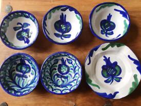 HandPainted Ceramic Serving Set- individual prices