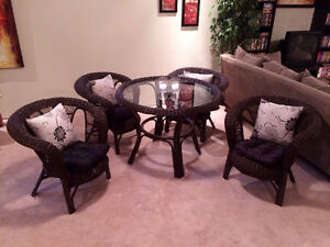 Real Wicker Dining Set