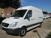 2013/13-REG Mercedes Benz Sprinter 2.1TD 313CDI MWB HIGH ROOF. TAIL-LIFT. CHEAP