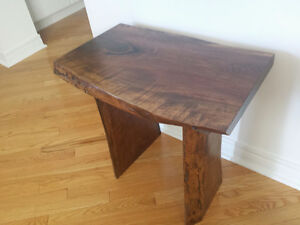 Live Edge 2 inch thick Custom Made Wood Side or End Table