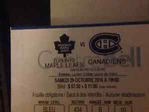 Canadiens Montreal Maple leafs Toronto 29 oct