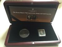 The Penny Black 170th Anniversary Stamp and Gold Coin Set