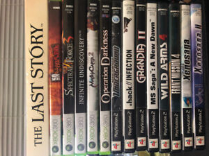 ULTRA RARE MINT PS2, XBOX360 AND THE LAST STORY FOR WII