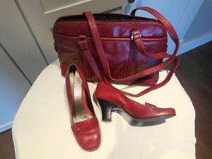 La Diva dress shoes with matching handbag