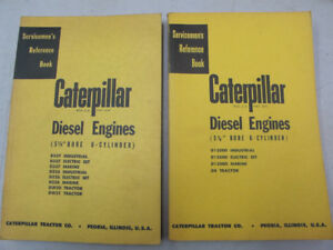 Vintage Caterpillar Diesel Engine Serviceman Manuals