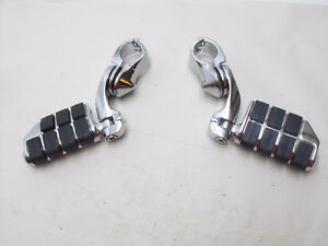 "New Aftermarket Driver Highway Pegs Chrome Wide 1.25"" Bar HD"
