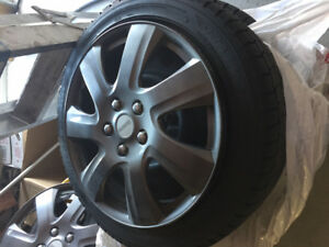 dunlop graspic 215/50r17. t1res and rims and wheel covers