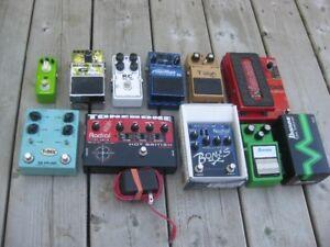Pédales pour guitare...Boss, Ibanez, Tonebone, multi-effet