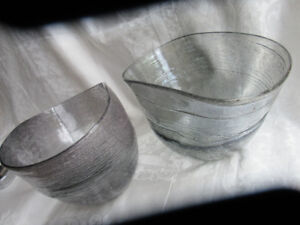 2 beautiful vases.  silver tones.  prc for the two and is firm
