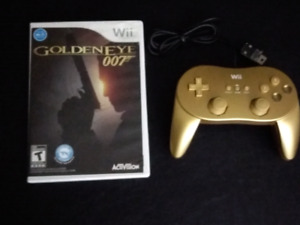 Golden Eye 007 Wii game with Golden Pro  Controller.