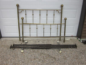 Polished brass double size bed frame