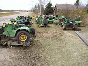 Wrecking John Deere & Case Yard Tractors and Attachments