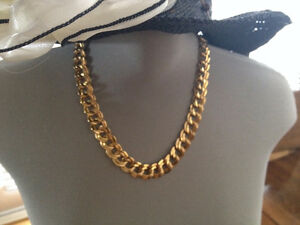 MONET GOLD TONE double link necklace 19''   $  85.00