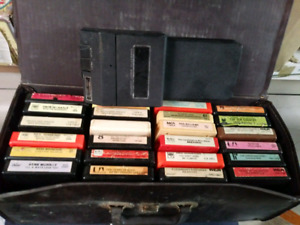 8 tracks in old case with 8 track/cassette adaptor $20 takes LOT