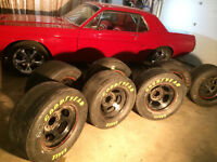 """27x 9.00"""" x 15"""" New Goodyear Racing Tires and Basset Wheels"""
