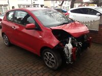 2013 63 Kia PICANTO 1.0 CITY DAMAGED REPAIRABLE very low mile free tax
