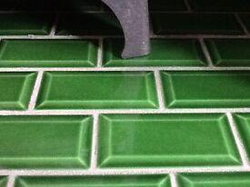 125 brand new bottle green metro tiles