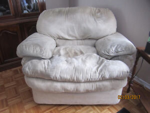 Beautiful Suede Leather Chair- Priced to Sell QUICKLY!!!!