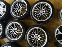 "18"" DOTZ RACING ALLOY WHEELS VW GOLF MK4 BORA CELICA BETTLE TT POLO SET OF 4"