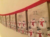 Advent calendar bunting.