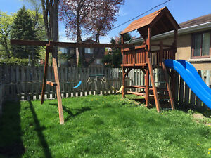 Outdoor Redwood Play Set / Swing Set