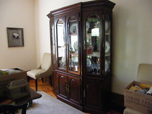 SOLID WOOD KINCAID BUFFET AND HUTCH REDUCED TO 250.00