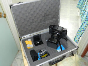 Cameras and equipment for sale.