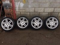 "R18 AMG staggered alloys 8,5-9"" mercedes audi 5 112"