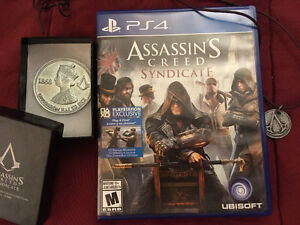 Assassins creed syndicate-PS4 with special coin and necklace