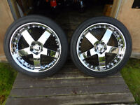 "20"" Chrome Fast Wheels & Goodyear Eagle Sports"