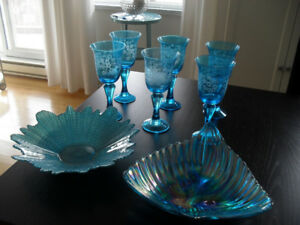 Wine Glasses & Two Dishes   (8 items)